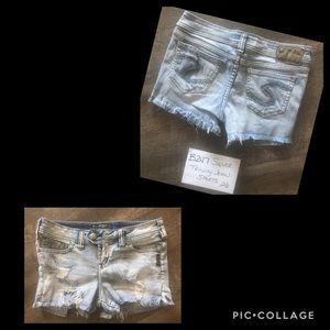 Silver Trinity Jean Shorts